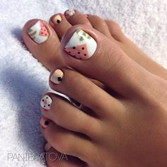 19 Ideas For Summer Pedicure Colors Toenails Simple Pretty Toe Nails, Cute Toe Nails, Pedicure Nail Art, Toe Nail Art, Pedicure Colors, Pedicure Ideas, Feet Nails, Minimalist Nails, Toe Nail Designs