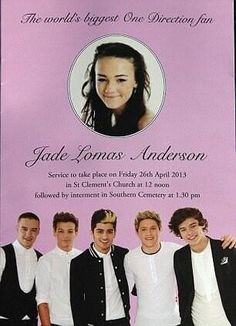 Rest in Peace Jade. We will pray for you