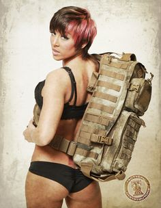 Miss March Gear Girl with Hazard 4 ATAC Camo bag.