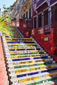 Selaron Steps - Rio de Janeiro, Brazil in 2019 Oh The Places You'll Go, Places To Travel, Travel Destinations, Places To Visit, Vacation Places, Brasil Travel, Mexico Travel, Travel Around The World, Around The Worlds