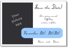 Save the Date templates, Save the Date postcards, Save the Date magnets to print with your photo | engagement announcements, wedding, love