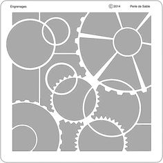 Gabarit Engrenages de Perle de Sable Disney Scrapbook Pages, Scrapbook Templates, Scrapbook Sketches, Scrapbooking Ideas, Kirigami, Scrapbooks, Overlays, Decoupage, Stencils