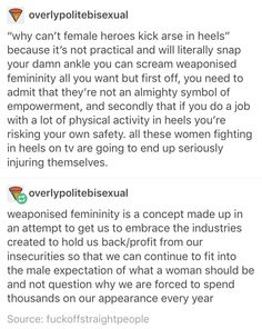 and that's one of the many, MANY reasons I loathe the trope of the 'strong, independent, kick ass woman'.  Fuck that noise!
