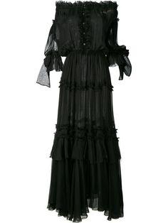 FAITH CONNEXION off-shoulder ruffle long dress. #faithconnexion #cloth #드레스