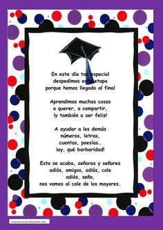 poesias de graduación infantil - Buscar con Google: