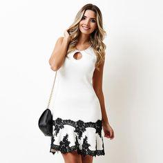 """✨P&B para sexta-feira à noite! ✨@ingridfgiovinazzo  #artsymoda #artsy #summer16 #blackandwhite #dress #fridaynight"""