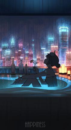 World of Our Fantasy — animepopheart: ★ 【pasoputi】 「お風呂」 ☆ ✔ republished. Anime Scenery Wallpaper, Cute Anime Wallpaper, Anime Artwork, Aesthetic Anime, Aesthetic Art, Aesthetic Pictures, Animes Wallpapers, Cute Wallpapers, Cyberpunk City