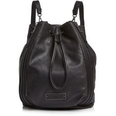Liebeskind Gaya Convertible Backpack (25.030 RUB) ❤ liked on Polyvore featuring bags, backpacks, black, leather crossbody backpack, genuine leather backpack, leather shoulder bag, leather shoulder handbags and convertible backpack crossbody