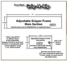 Grip-N-Rip Cutting & Assembly Instructions - FREE PLANS of how I made mine.