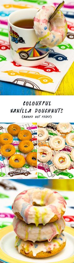 Those colourful doughnuts will brighten up any road trip, party or bake sale. They are quite quick and easy to make and are healthier than other doughnuts because they are baked not fried. For more car themed recipes, take a look at Food Bloggers for Volkswagen board: https://uk.pinterest.com/volkswagen/food-bloggers-for-volkswagen/