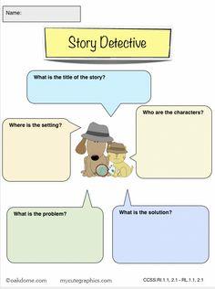iPad Graphic Organizer - Story Detective
