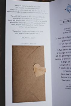 attach an #envelope enclosed with a tissue for happy tears