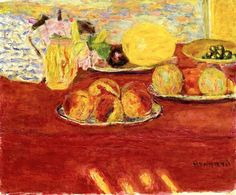 Still LIfe with Melon / Pierre Bonnard - 1941