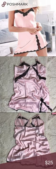 VS Small Pink/Black Babydoll Slip Unlined Victoria's Secret Intimates & Sleepwear Chemises & Slips