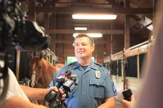 Sergeant Major, one of our department's longest-serving Mounted Patrol horses, retired on August 7, 2013, because of an ankle injury. He can no longer do patrol work, but he's going to enjoy life back on the farm of the people who donated him near Cameron, Mo. Sergeant Joey Roberts conducted an interview with Media.