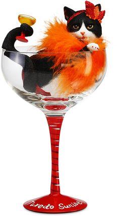 "Tuxedo Sunrise, 9.25"" B&W Tux in Glass - Hiccup - Pavilion"