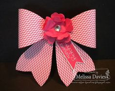 Stampin' Up! Gift Bow by RubberFUNatics: Birthday Gift Bow