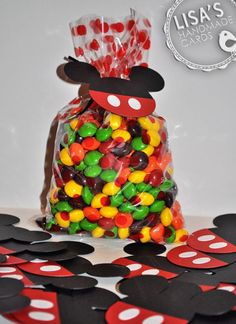 cute! use Mickey Mouse Clubhouse colors only for the m&m's