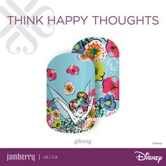 'THINK HAPPY THOUGHTS' for only $18 per sheet; B3G1 FREE!  #disneythinkhappythoughts #jennasbeautyjams #disneycollectionbyjamberry