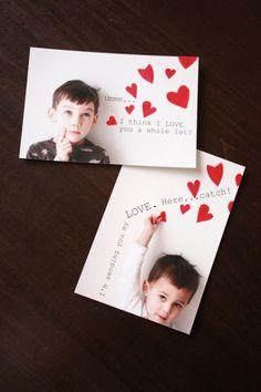 Personalized Valentine Photo Card Ideas via iHeartFaces.com