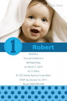 Spot On One Card w/ Magnet in Bright Blue Invitation  - Impressive Invitations