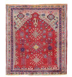 An Anatolian prayer rug, early 20th century, cm 147x130. Good condition. From cambi casa d'este.