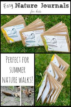 Science Nature Journals for Kids. If I make these, turn the bag around so that the collected treasures do not fall out.