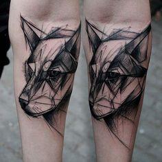 #wolf#wilk#sketch#realsketch#tattrx#supportgoodtattooing#blackworkerssubmission#ink#black#czerń#