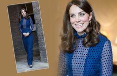 Echter Hingucker!Kate überraschte kurz vor ihrem Abflug nach Indien und Bhutan mit einemleicht transparenten Traum-Dress in Königsblau desindischen LabelsSaloni. Kostenpunkt: etwa 620 Euro.