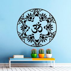 Circular Mandala Pattern Wall Decals Vinyl Removable Art Indian Religious Home Decor Wall Sticker