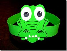 Please visit our website for Crocodile Craft, Crocodile Costume, Projects For Kids, Diy For Kids, Crafts For Kids, Arts And Crafts, Alphabet Letter Crafts, Headband Crafts, Archaeology For Kids