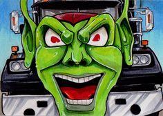 Maximum Overdrive by Christopher Manuel Horror Art, Horror Movies, Maximum Overdrive, Trick R Treat, Green Goblin, Danse Macabre, My Little Pony, Monster Movie, Stephen Kings
