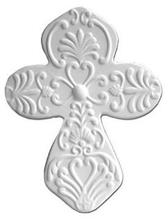 Unfinished Low-Fire Ceramic Bisque Paint Your Own Ceramic Paint-a-Potamus Celtic Cross