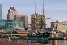 USS Constellation. Baltimore Maryland's Inner Harbor is a wonderful place to visit. There's plenty of great places to eat, shop & explore!