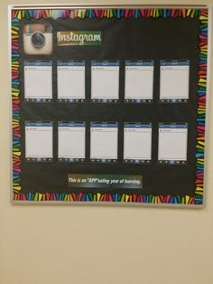 Technology bulletin board Instagram. Update photos as needed.