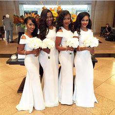 Ladies in waiting @kiki.jaja ! #NWbms #Bridesmaids #NigerianWedding
