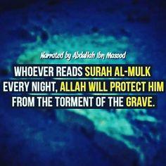 Sunnahs before sleeping! 💤 🌙🌟 - - •   << Recite the 3 Surahs Ahad, Falaq & Naas {3 times} •   << Surah Mulk •   << Azkar al Naom •   << Aayatul Kursi •   << Also please don't forget to recite the last two verses of Surah Baqarah! 😴 •  #Allah #dua #islam #sunnah #quran #ayatalkursi #surahBaqarah #surahMulk #quls #azkar #الله #دعاء #دعا #قرآن #سورة #الملك #البقرة #اذكار_النوم #نوم😴 #استغفار #استغفرالله #استغفر_الله #ذكر #ذكر_الله #اسلام #الحمدلله #اية_الكرسي #سنة #blessedwidthebest…
