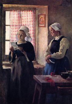 The Letter (1882) - Gari Melchers