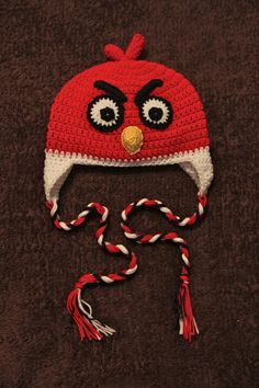Crochet Angry Bird Hat Collection: By Mrs.V's Crochet by Rhonda Vaughan, via Behance