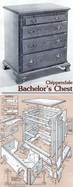 Chippendale Bachelor Chest Plans - Furniture Plans and Projects | WoodArchivist.com
