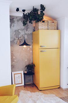 Best Indoor Garden Ideas for 2020 - Modern Refrigerator Makeover, Fridge Makeover, House Design, Fridge Decor, House Styles, Flat Decor, House Interior, Home, Home Decor