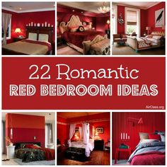 22 Romantic Red Bedroom Ideas