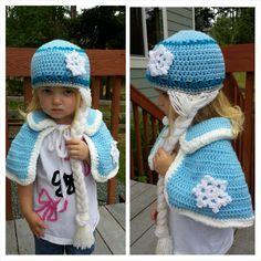frozen capa a crochet - Buscar con Google Crochet Gifts, Cute Crochet, Crochet For Kids, Crochet Baby, Knit Crochet, Elle Marie, Frozen Crafts, Frozen Crochet, Crochet Princess