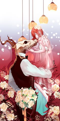 Mahou Tsukai no Yome (The Ancient Magus' Bride) Image - Zerochan Anime Image Board Kawaii Anime, Manga Romance, Original Anime, Couple Manga, Chise Hatori, Elias Ainsworth, The Ancient Magus Bride, Levi X Eren, Fanarts Anime
