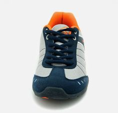 Dark Blue Textile Synthetic Power Athletics Shoes For Boys