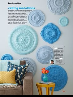 Cool idea for ceiling medallions
