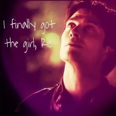 "Damon Salvatore. The Vampire Diaries, Season 4 ""AfterSchool Special"" ..that's exactly what it looks like he was thinking!! :)))"