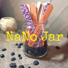 NaNo Prep: The NaNo Jar - This is the BEST way I've seen to move a writer along when he gets stuck (whether or not you're participating in NaNoWriMo).