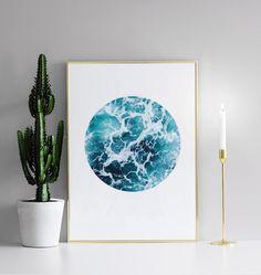 Sea foam circle, poster
