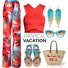 Tropical styling by dgia on Polyvore featuring Just Cavalli, NAKAMOL and Kate Spade